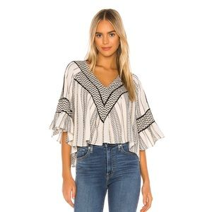 Free People Runnin On A Dream Top Ivory Size L NWT